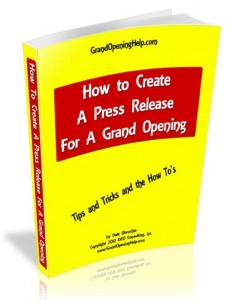 How to create a grand opening press release